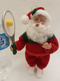 Tennis Santa Ornament