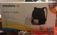 black and white Medela electric breast pump box Calgary, T3G