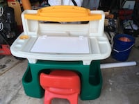 Children's white, green and red desk. Great condition.