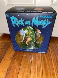 Rick and morty statue