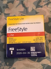 Free Style Lite Blood Glucose Test Strips Inwood, 25428
