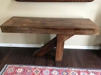 Solid Wood Hall Table SILVERSPRING