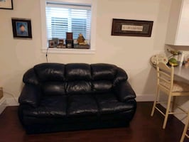 Leather couch, can deliver $175