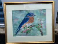 Bluebird watercolor painting  27 km