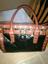 black and brown leather tote bag Stockton, 95206