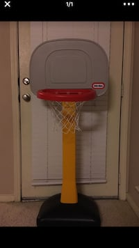 red and gray Little Tikes basketball hoop Irving, 75063