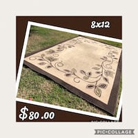 white and brown floral area rug Modesto, 95356