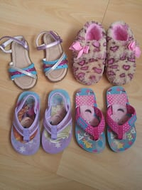 toddler's assorted shoes size 8