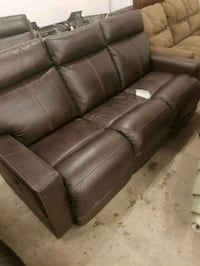 Brown leather couch fair condition  Winnipeg