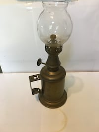 Old Brass Oil Lamp New Durham, 03855