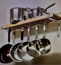 Wall Mounted Wooden Pot Rack Springfield, 22153