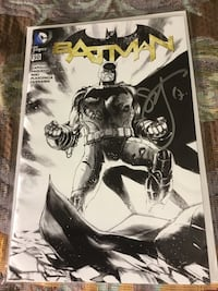DC BATMAN #50 Black &White Cover signed by Scott Snyder Laurel, 20724