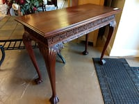 26484 Carved Sofa Table or Console / Dark Wood Entryway Table 608 mi