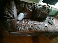 black leather 3-seat sofa Silver Spring, 20904