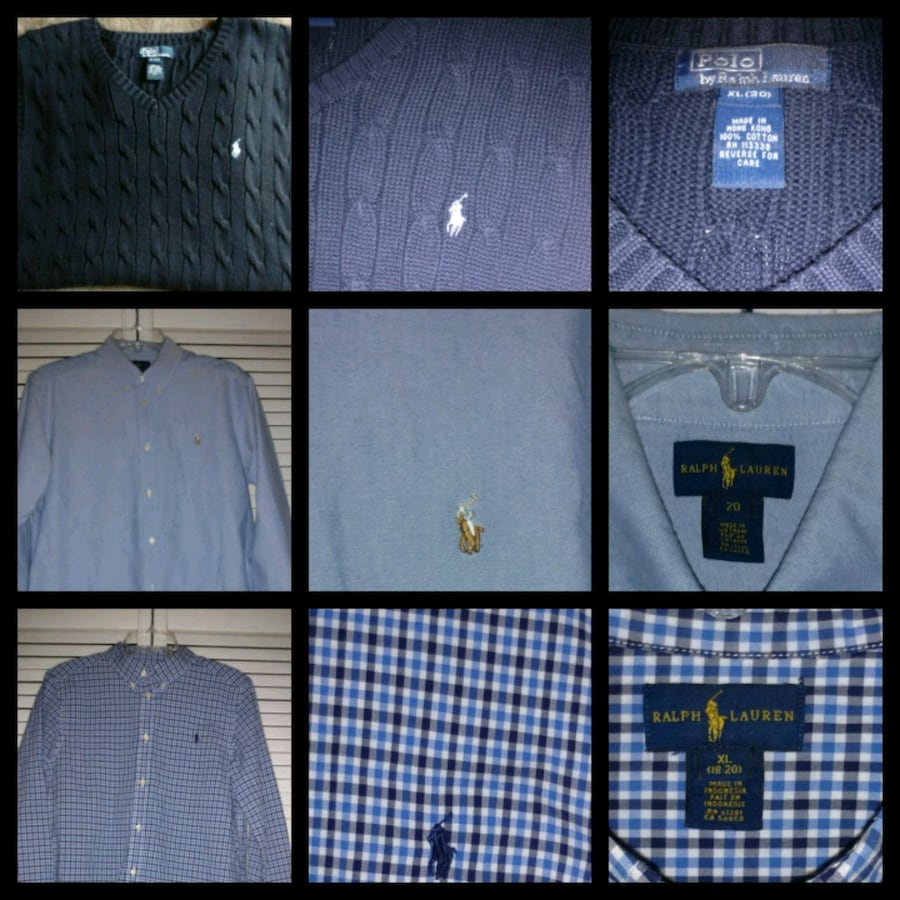 Polo  2 shirts and sweater vest for one price