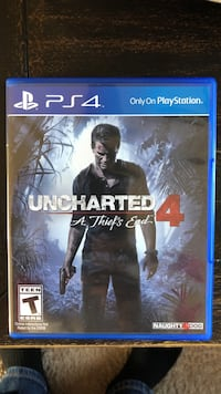 Uncharted 4 ps4 game case Frederick, 21703