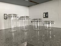 Acrylic canisters / storage containers  Kitchener, N2B 1J9