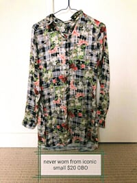 women's multicolored floral long-sleeved shirt 3149 km