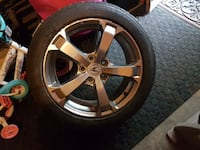 3 spare factory tires and rims from a Acura TL