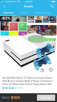 Video game console with over 600 games built in it   Sterling, 20164
