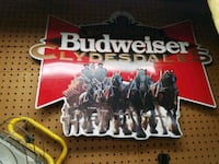 Budweiser tin sign Clydesdales  Mount Prospect, 60056