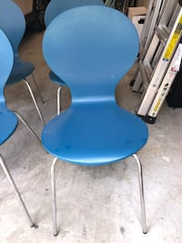 4 Blue Bentwood Shell Chairs Houston, 77008