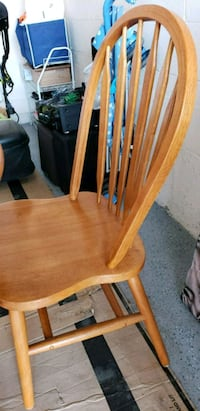 brown wooden windsor armless chair Mississauga, L5V