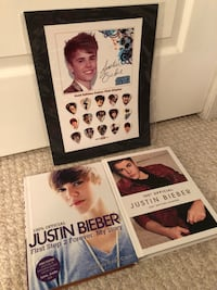 Justin Bieber books and picture  Richmond Hill