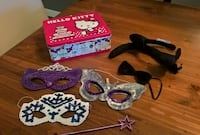 Hello Kitty Lunch Box + 3 Masks + Cat Accessories Custome