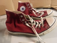pair of red Converse All-Star high-tops Toronto