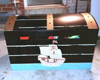 Large pirate toy chest