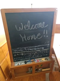 black chalkboard with brown wooden frame and hutch Olney, 20832