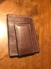 Brown leather bi-fold wallet Frederick, 21701