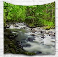 FOREST HILLS 3D PRINTING WALL HANGING TAPESTRY NEW Victoria