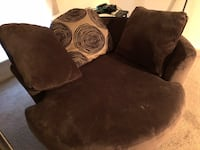 Brown suede sofa chairs Houston, 77040