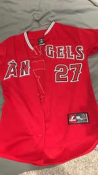 Red angels 27 jersey Mike Trout size S