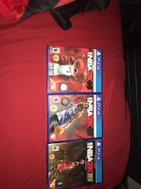 Three NBA 2k 14, 15 and 16 PS4 game cases