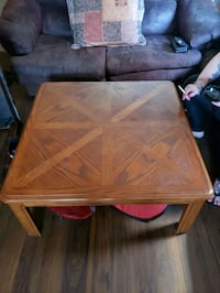 rectangular brown wooden coffee table London, N6B 1S9