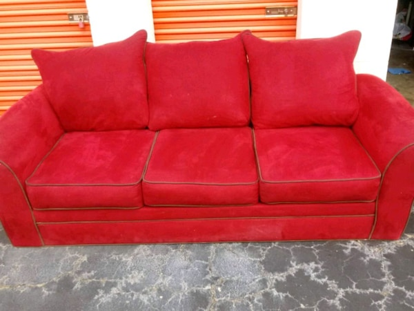 Sensational Red Brown Stitching American Signature Sofa Couch Short Links Chair Design For Home Short Linksinfo