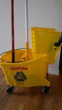 New house keeping bucket with two mops on sale