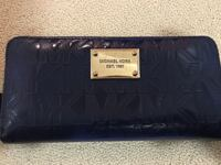 REDUCED Michael Kors Wallet Large Blue Gold Great Condition