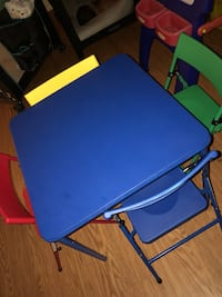blue and green folding table Lowell, 01854