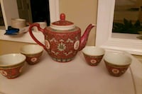 Antique Japanese teapot and cups Stafford, 22554