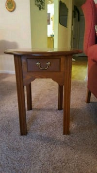 brown wooden single drawer side table Baltimore, 21215