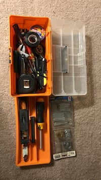 assorted tools with orange and white plastic case Rockville, 20852