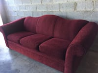 red fabric 3-seat sofa 36 km