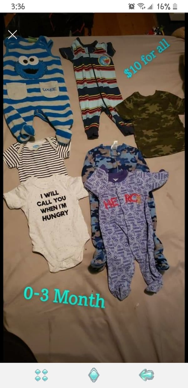 Baby boy clothes (0-3 & 3 month) 1