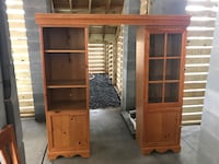 Dark piece is Philippine mahogany top and bottom piece 250  lighter piece is listed for 175. Good luck Hanahan, 29410