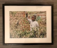 Signed & Framed Photo of African Boy Surrey, V3S 8Y2