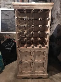 Vintage wine rack and cupboard, From Portabello Rd, London. Upcycle potential! Old Greenwich, 06870